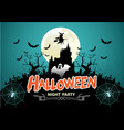 halloween night party green holiday festival vector image vector image