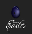 happy easter egg in form a bowling ball vector image vector image