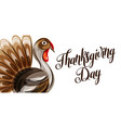 happy thanksgiving day greeting card with abstract vector image vector image