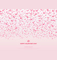 happy valentines day card with hearts pink on vector image vector image