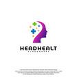head health logo template head intelligence logo vector image vector image