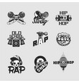 hip-hop music signs set rap party collection of vector image vector image
