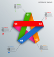 Info graphic with colorful folded paper star vector image vector image