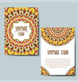 invitation card with mandala decorative ornament vector image