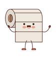 kawaii cartoon roll paper towel in colorful vector image vector image