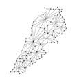 lebanon map of polygonal mosaic lines network vector image vector image