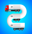 Logistics infographics with truck and places for vector image vector image