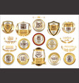 luxury retro badge and labels collection vector image