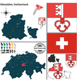 Map of Obwalden vector image vector image