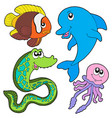 marine fishes collection vector image