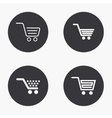 modern shopping icons set vector image vector image