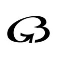 monogram from linked letters g and b logo vector image