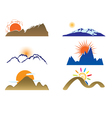 mount and sun vector image vector image