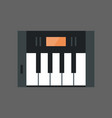 music keys icon electronic piano keyboard concept vector image vector image