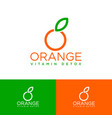 organic logo orange emblem natural products vector image vector image