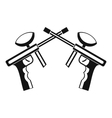 Paintball guns icon simple style vector image vector image