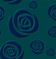 Pattern of dark blue roses vector image vector image