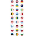 Postal Flag Stamp Round vector image