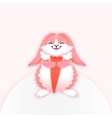 Rabbit cartoon eating a carrot Funny bunny Cute vector image