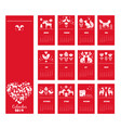 red hand drawn calendar 2019 year in scandinavian vector image