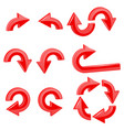 red round curved arrows collection of icons vector image vector image