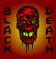 red skull is bleeding black death vector image vector image