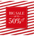 sale banner with red background with watercolor vector image vector image