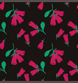 seamless pattern with honeysuckle berries vector image vector image