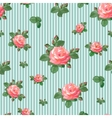 Seamless Pattern with Roses in Retro Style vector image