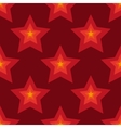 Seamless red stars background in vector image