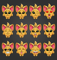 Set cute cartoon fantastic animal like a cat with vector image vector image