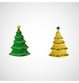 Set of trees on a light background vector image