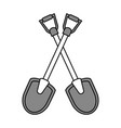shovel tools design vector image vector image
