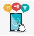 smartphone cyber monday shop cart commerce vector image vector image