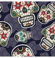 Sugar skulls pattern vector image vector image