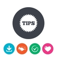 Tips sign icon Star symbol vector image