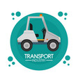 transport industry concept vector image vector image