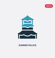 two color summer palace icon from monuments vector image
