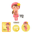 virgo collection zodiac signs vector image