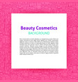 beauty cosmetics paper template