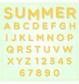 3d bubble alphabet set vector image
