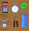 accessories for training vector image
