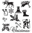 Christmas ornament set vector image