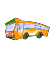 A view of a bus vector image vector image