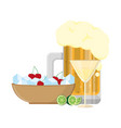 alcoholic drink cartoon vector image