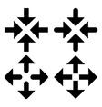 Arrow box symbols vector image vector image