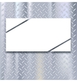 Banner on metal texture background vector image vector image
