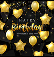 birthday elegant greeting card with gold vector image vector image