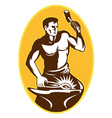 blacksmith retro symbol vector image vector image