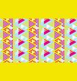 bright fun geometry seamless vector image vector image